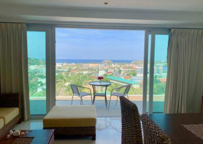 vista del salotto in affitto a phuket